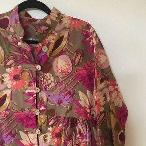 Modernmiss floral drop waist oversized dress